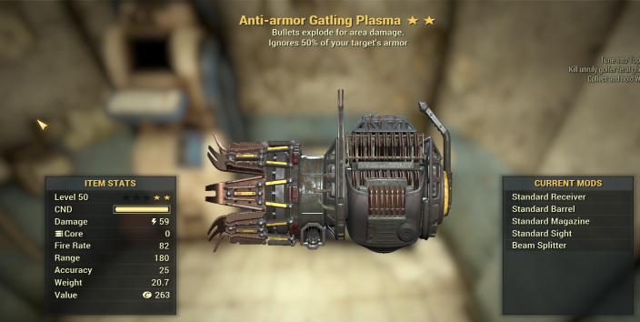 Anti Armor Explosive GATLING PLASMA Legacy