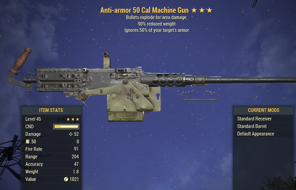 Anti-Armor Explosive Machine Gun .50 90% Reduced Weight