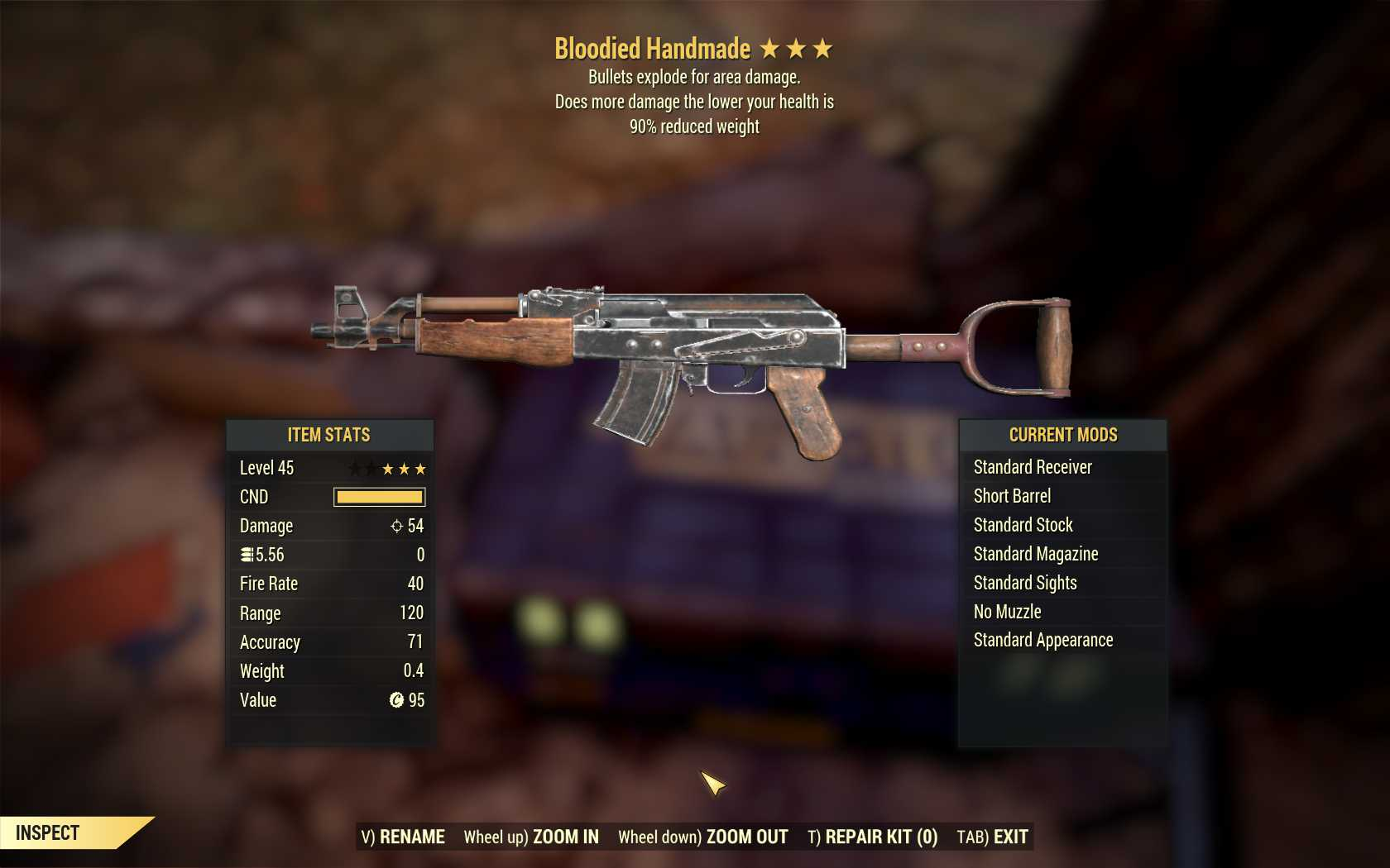 [PC] Bloodied Handmade Explosive [90WR]