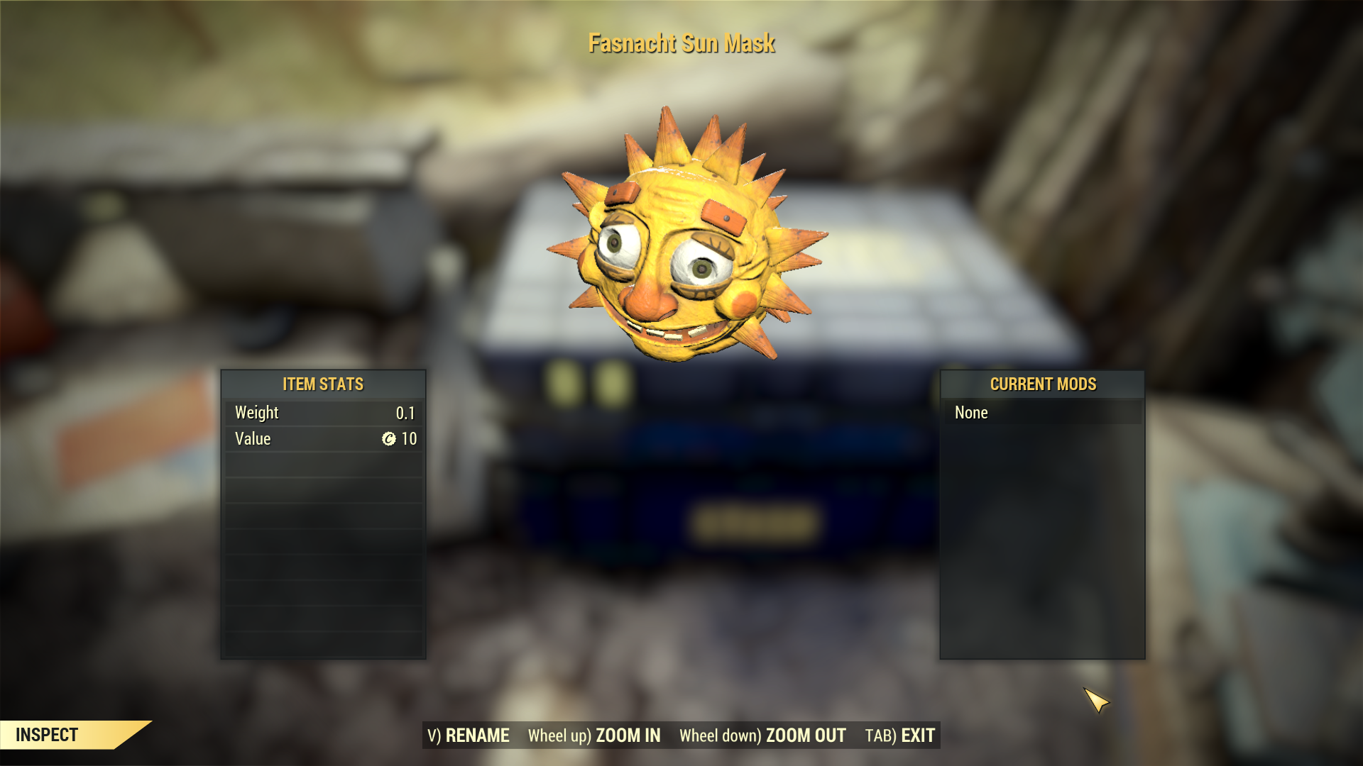 [Rare outfit] Fasnacht Sun Mask